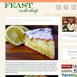 Lemon Olive Oil Cake with Zesty Lemon Rosemary Glaze