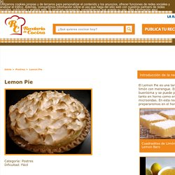 Lemon Pie Receta
