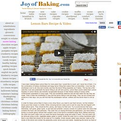 Lemon Bars Recipe With Picture