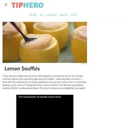 Lemon Soufflés