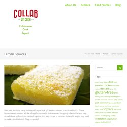 Lemon Squares – Collab Kitchen