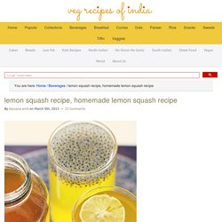 lemon squash recipe, homemade lemon squash recipe
