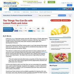 Lemon Uses: Things You Can Do with Lemon Peels and Juice
