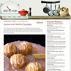 Lemon and Vanilla Cupcakes