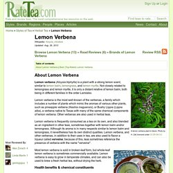 Lemon Verbena Reviews