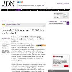 Lemonde.fr fait jouer ses 160000fans sur Facebook