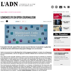 Lemonde.fr en open journalism - MEDIA