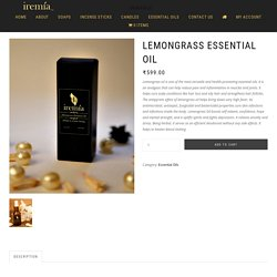 Lemongrass Essential Oil – BuyHealth-Promoting Essential Oils Online at Low Price