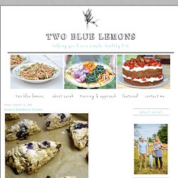 Two Blue Lemons: Lemon Blueberry Scones