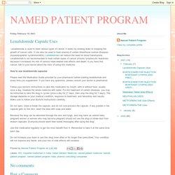 Lenalidomide Capsule Uses