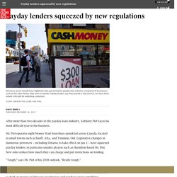 Payday lenders squeezed by new regulations