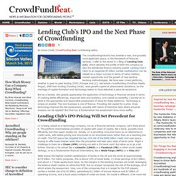 Lending Club's IPO and the Next Phase of Crowdfunding