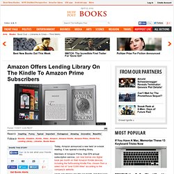 Amazon Offers Lending Library On The Kindle To Amazon Prime Subscribers