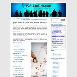 P2P-Banking.com » Which sites do offer p2p lending statistics?