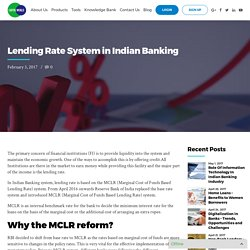 Lending Rate System in Indian Banking