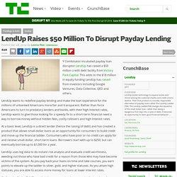 LendUp Raises $50 Million To Disrupt Payday Lending