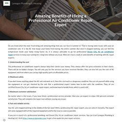 Amazing Benefits of Hiring a Professional Air Conditioner Repair Expert