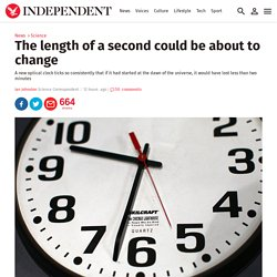 The length of a second could be about to change