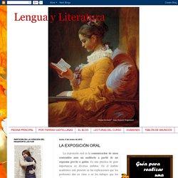 Lengua y Literatura: LA EXPOSICIÓN ORAL