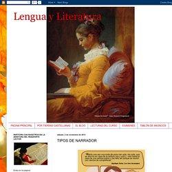 Lengua y Literatura: TIPOS DE NARRADOR
