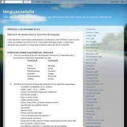 lenguacastella: Ejercicios de repaso básicos funciones del lenguaje