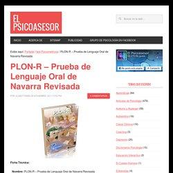 PLON-R – Prueba de Lenguaje Oral de Navarra Revisada