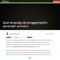 Qué lenguaje de programación aprender primero