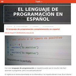 El lenguaje de programación en español