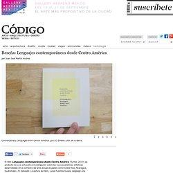Reseña: Lenguajes contemporáneos desde Centro América