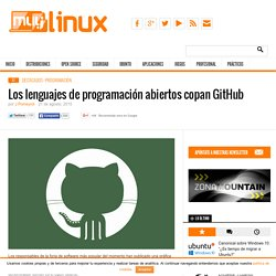 Los lenguajes de programación abiertos copan GitHub