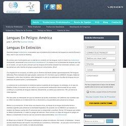 Lenguas En Peligro: América