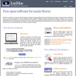 Open software for music theory