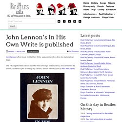 March 23rd, 1964 : John Lennon's In His Own Write is published