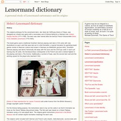 Helen's Lenormand dictionary