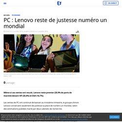 PC : Lenovo reste de justesse numéro un mondial