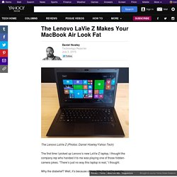 The Lenovo LaVie Z Makes Your MacBook Air Look Fat