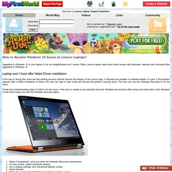 Lenovo laptop Support Australia - My First World