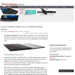Lenovo ThinkPad T460s (Core i7, WQHD) Ultrabook Review