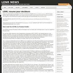 LENR, resume pour decideurs « LENR news