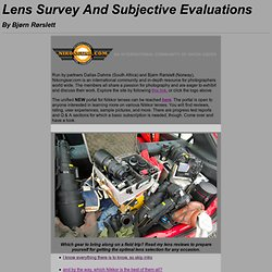 Lens Evaluations