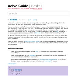 Lenses – Haskell – Aelve Guide
