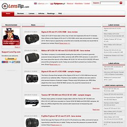 LensTip.com - lens review, lenses reviews, lens specification - Lenstip.com