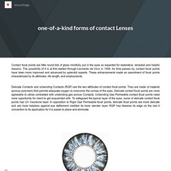 one-of-a-kind forms of contact Lenses