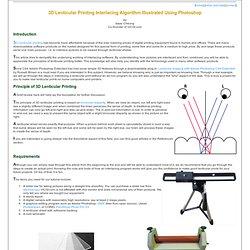 3D Lenticular Interlacing Algorithm Using Photoshop