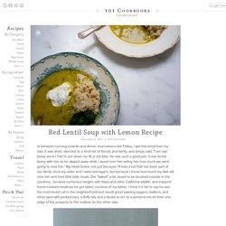 Red Lentil Soup with Lemon Recipe