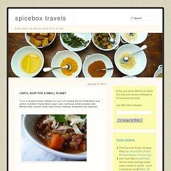 Lentil Soup for a Small Planet