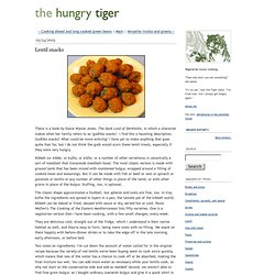 Lentil snacks - The Hungry Tiger