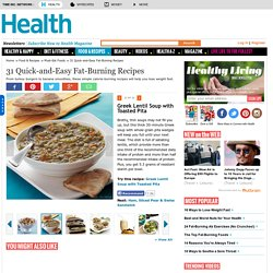 Greek Lentil Soup with Toasted Pita - 31 Quick-and-Easy Fat-Burning Recipes