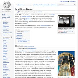 Lentille de Fresnel wiki