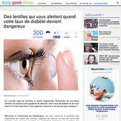Des lentilles qui vous alertent quand votre taux de diabète devient dangereux